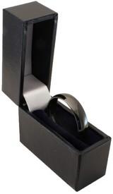 5mm unisex black zirconia ceramic brushed court wedding ring for Slim engagement ring box