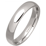 Women's 4mm Palladium 500 Court Wedding Ring