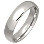 Men's 5mm Palladium 500 Court Wedding Ring