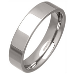 Women's 5mm Palladium 500 Flat Court Wedding Ring