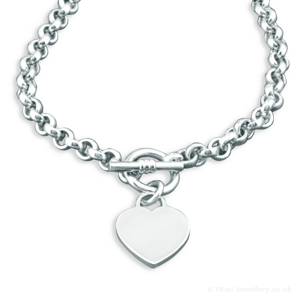 e196d1efa2d Heavy Heart Tag Sterling Silver Necklace