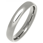 4mm Classic Court Polished Titanium Wedding Ring