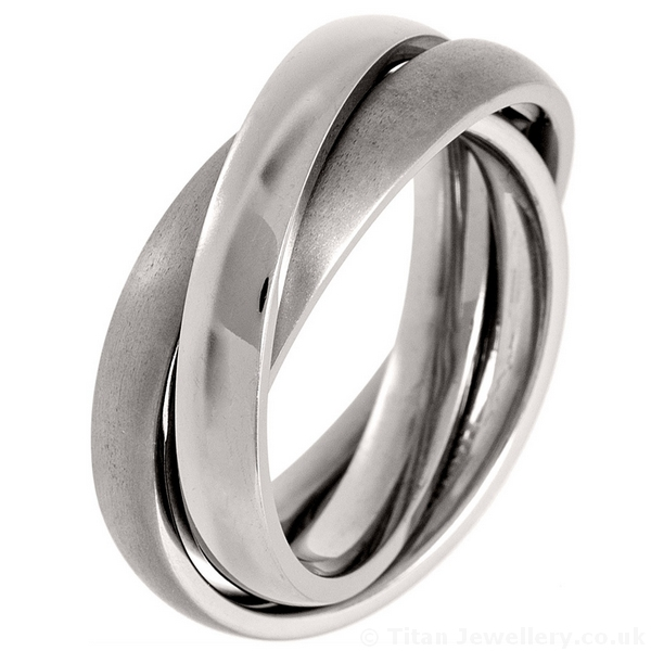 3 Band Russian Wedding Ring made of Titanium