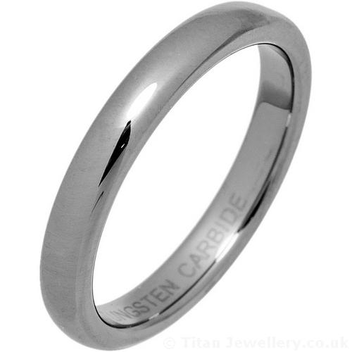 3mm Womens Tungsten Carbide Court Wedding Ring