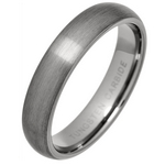 5mm Brushed Court Tungsten Carbide Wedding Ring