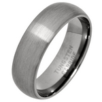 7mm Brushed Court Tungsten Carbide Wedding Ring