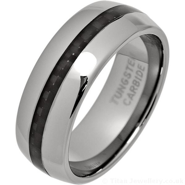 Carbon fibre wedding rings uk