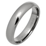 5mm Classic Court Tungsten Carbide Wedding Ring