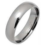 6mm Men's Court Tungsten Carbide Wedding Ring